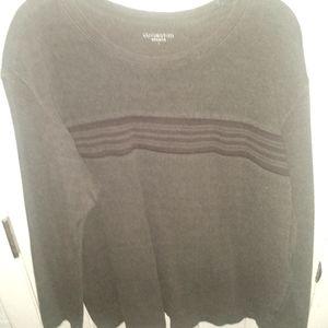 Covington Dark Brown Striped Pullover Sweater -L